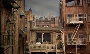 rear window from apartment