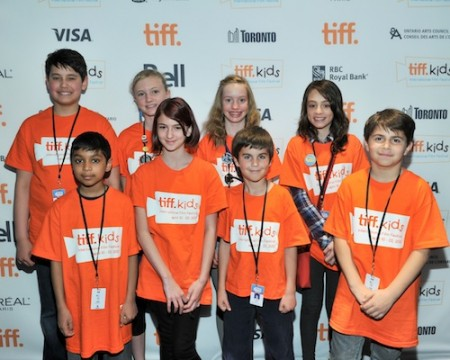 8 of the 9 TIFF Kids Young People's Jury