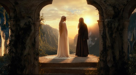 Galadriel and Gandalf in The Hobbit: An Unexpected Journey (2012)