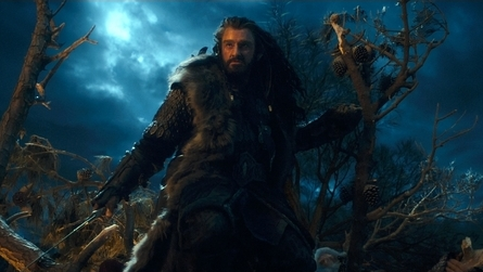 Thorin Oakenshield prepares to battle Azoc in The Hobbit: An Unexpected Journey (2012)