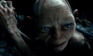Gollum hiding from Bilbo in The Hobbit: An Unexpected Jouney (2012)