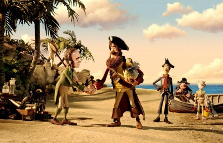 The band of misfits on a pirate adventure in Pirates! Band of Misfits (2012)