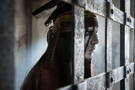 Johnny DEpp as Tonto in The Lone Ranger (2013)