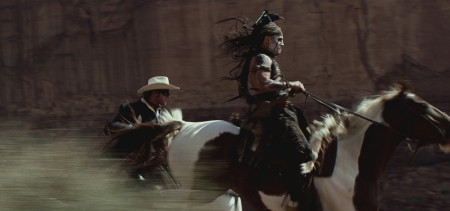 Johnny Depp and Arnie Hammer in The Lone Ranger (2013)