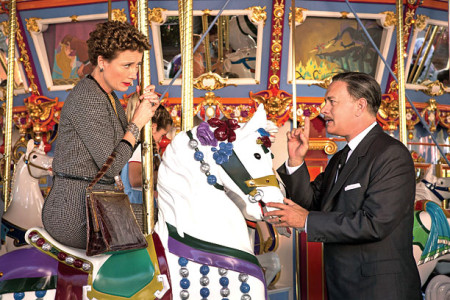 P.L. Travers (Emma Thompson) and Walt Disney (Tom Hanks) in Saving Mr. Banks (2013)