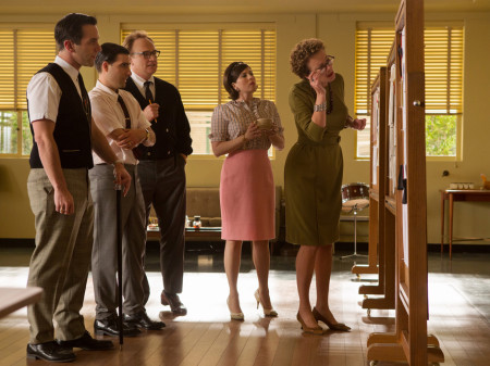 P.L. Travers (Emma Thomspon) attempts to collaborate with others on Mary Poppins in Saving Mr. Banks (2013)