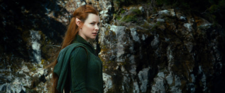 Evangeline Lily dons elf ears to play fierce fighter Tauriel in The Hobbit: The Desolation of Smaug (2013)