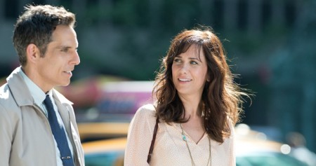 Walter Mitty (Ben Stiller) with his co-worker crush Cheryl Melhoff (Kristen Wiig) in The Secret Life of Walter Mitty (2013)