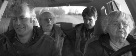 Bruce Dern, Will Forte, June Squibb, andBruce Odernkirk in Nebraska (2013)