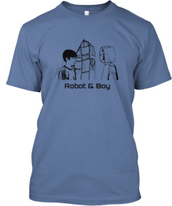 Robot and Boy - t-shirt front