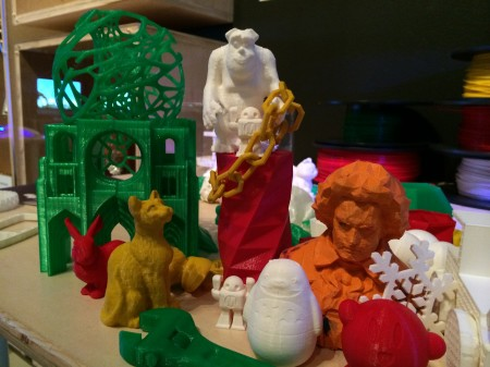 3-D printed toys at Digiplayspace