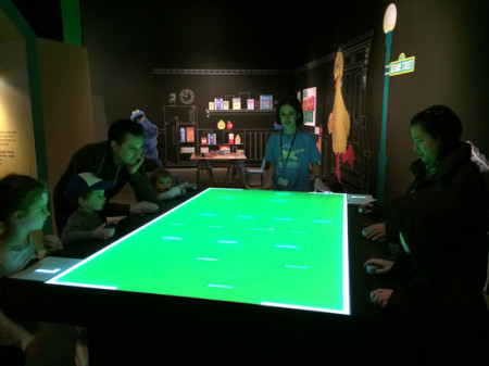 Playing SuperPong at Digiplayspace