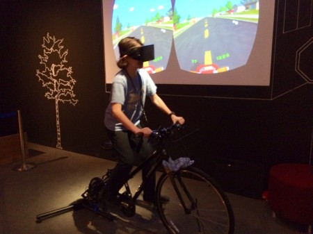 Playing PaperDude VR with the Oculus Rift at Digiplayspace