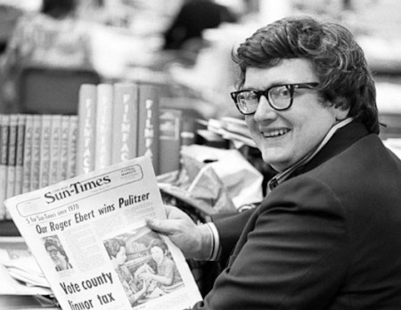 A young Roger Ebert celebrates winning the Pulizter Prize for Criticism in 1975