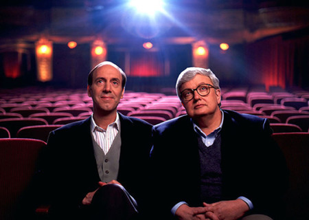 Roger Ebert and Gene Siskel during the heyday of their movie-review show At The Movies