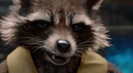Rocket Racoon (Bradley Cooper) in Guardians of the Galaxy (2014)