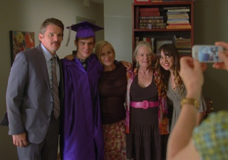 Mason's (Ellar Coltrane) high-school graduation after-party in Boyhood (2014)
