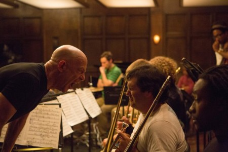 Fletcher (J.K. Simmons) shows no mercy to his jazz band students in Whiplash