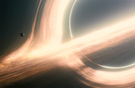 One of the many extraordinary space visuals in Interstellar