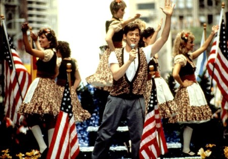 Mathew Broderick crashes a parade in Ferris Bueller's Day Off (1985)