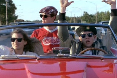 Ferris and his friends in Ferris Bueller's Day Off (1985)